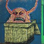 Belial on street wall in Argentina by anonymous artist.